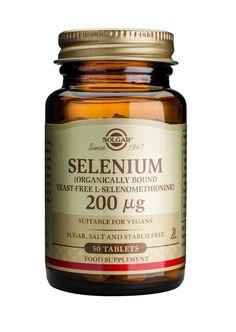Solgar Selenium - Immune System Support - 100 x Tablets Vegan Sugar, Stress Causes, Thing 1, Oxidative Stress, Nutrition Education, Vitamin E, Immune System, Candle Jars
