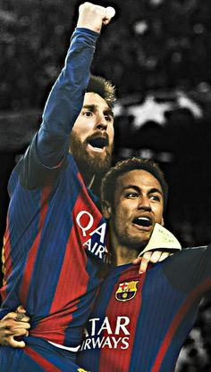 Neyssi wallpapers Fc Barcelona, Barcelona Players, Barcelona Football, Messi Goals, Messi And Neymar, Messi Photos, Leonel Messi, Football Wallpaper, European Football