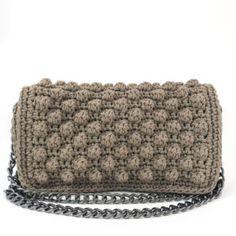 Britta Handmade crochet bag Timeless Classic, Timeless Design, Crochet Shoulder Bags, Leather Shoulder Bag, Chain, Navy, Spring, Summer, Handmade