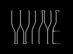 "Gorgeous ""wine"" writing.  Simple but superbe minimal design."