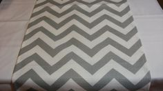 GREY TABLE RUNNER- Chevron Zigzag gray and white zig zag Table Runner Chevron Wedding Bridal Baby Party Shower on Etsy, $19.00