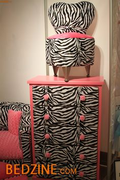 So cute! For the pink and zebra print lover for sure!