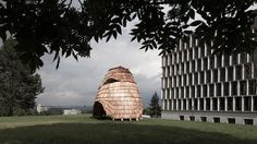 ETH Zurich students create robot-built pavilion with a skin of wooden shingles http://ift.tt/2khszrv