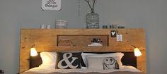 Hoofdeind met een knik | Eigen Huis & Tuin Scandinavian Bedroom, Floating Shelves, Master Bedroom, Sweet Home, Home And Garden, Diy Projects, Furniture, Home Decor, Bedroom Ideas