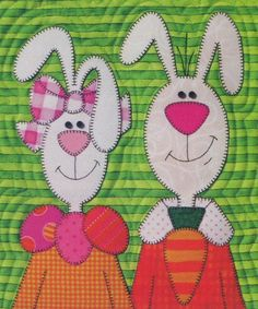 Great small pattern for Easter.  Very easy to applique and very cute.