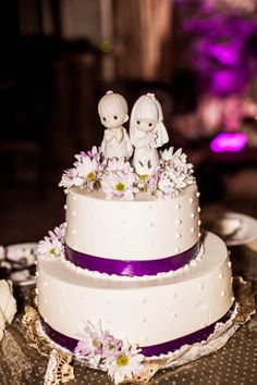 Wedding cake with Precious Moments cake topper