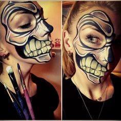 #facepainting#skull#makeup#work