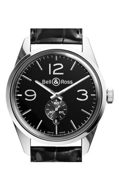 Bell and Ross Vintage BR Automatic Watch BR123 Officer Black