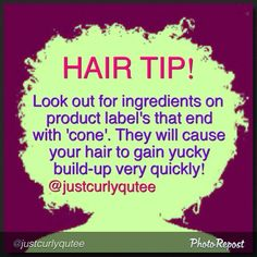 Natural Hair Tip! Also ones that end in -ate and -ite