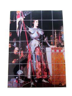 Saint Joan of Arc  catholic wall art  catholic by TerryTiles2014