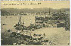 Saluti da Palermo, Il Porto con veduta della Città, Bucaro Gaspare - Palermo