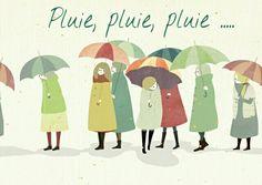 Pluie • umbrella illustration • brollies of many colors