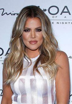 khloe kardashian hair blond ombré highlights