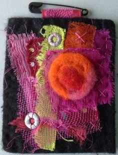 Tableau textile: Composition de couleurs chaudes par VeronikB