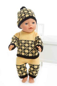 Genser, lue og bukse - Viking of Norway Baby Born, Reborn Dolls, Alpacas, Norway, Vikings, Doll Clothes, Crochet Hats, Beanie, Fashion