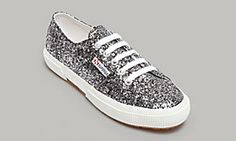Superga silver glitter shoes, $65