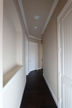 Hallway with wall inset