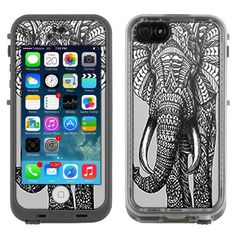 Skin Decal for LifeProof iPhone 5C Case - Ornate Elephant