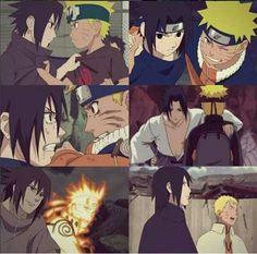 Sasuke and Naruto...  through the years Best anime friendship I've ever seen
