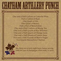 Savannah's signature drink, chatham artillery punch