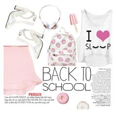 """""""Back to School: New Backpack"""" by punnky ❤ liked on Polyvore"""