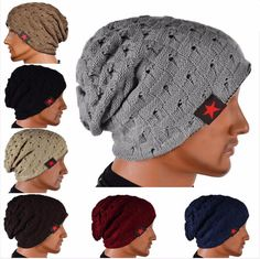 001415f1c6f New Hot Winter Warm New Fashion Men Skull Chunky Women Knit Beanie  Reversible Baggy Cap Warm Unisex Hat HB88-in Skullies   Beanies from Men s  Clothing ...