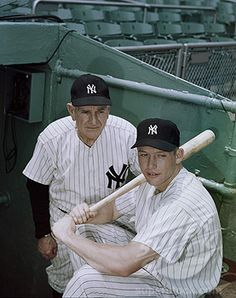 Casey Stengel And Mickey Mantle New York Yankees c. 1954