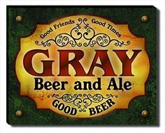 Gray Beer & Ale Stretched Canvas Print ZuWEE…