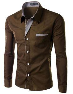 Men's Casual Slim-Fit Stylish Hot Dress Shirt M-4XL 8 Colors-Loluxe