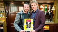 Danny Miller and Ryan Hawley win All About Soap's Best moment of 2014 - Emmerdale - ITV