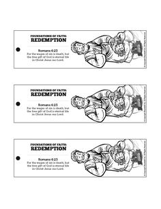 Romans 6 Redemption Bible Bookmarks: The Biblical truth of redemption is so wonderful we should read of it often. Encourage your kids to read Romans 6 on their own by sending them home with these printable Redemption crafts.