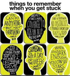 Reminders for when you get stuck. I think it would look great as a poster in a classroom with motivational quotes for students having difficulties