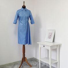 cd7d3ecd611a #AlenaGri_atelier Платье-рубашка для прекрасной Марии 🕊🌿 Классический  острый воротник и оформленные манжеты