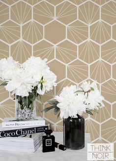 Cream Honeycomb Temporary Wallpaper, Geometric Regular Wallpaper, Geometric Wallpaper Art Deco in this year is one of the biggest trends so why not to make [.