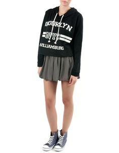 #Sudadera Double Agent Capucha Cropped. University Style. Distintos estampados y colores: negro, lila, blanco y gris. 12,99€ en www.doubleagent.es #fashion #winter #sweatshirt