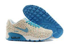 Nike Air Max 90 Športové Topánky Svetlo Šedá Obloha Modrá Hot Predaj na niketopanky.com! Nenechajte si ujsť roztomilý~~~