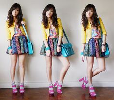 Burst of color on a gloomy day (by Kryz Uy) http://lookbook.nu/look/2245899-Burst-of-color-on-a-gloomy-day