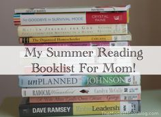 My Summer Reading Booklist for Mom!