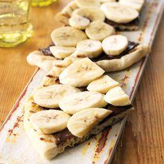 Chocolate, Hazelnut, and Banana Pizza
