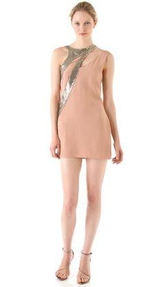 Sheri Bodell Metal Mesh Asymmetrical Dress (Rehearsal dinner/Party Dress)