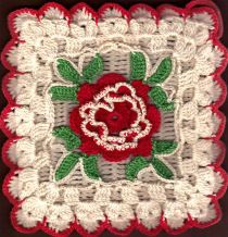 Sharon's Antiques Vintage Fabrics - Kitchen Kitsch Crocheted Potholders