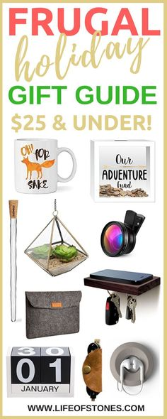 10 frugal holiday gift ideas for the coworker who has everything!  Holiday gift guide with fun and unique gifts for $25 and under!  Christmas gifts for boyfriend | Christmas gifts for Mom | Gifts for teachers | employees  via @kristinstones
