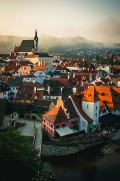 Beautiful city Cesky Krumlov in the Czech Republic