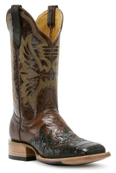 Cinch Classic Cigar Caiman Wingtip Cowgirl Boots - Square Toe - Sheplers