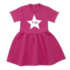 082f49015 Personalised Girls Dress. £14.99 Our 100% cotton high quality dresses come  in a