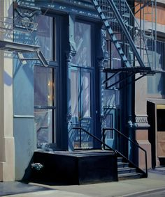 'Shadows on Greene' oil on linen by Stephen Magsig