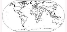 15 Sets of Free Vector World Maps to Download Flat World Map, Free Printable World Map, Free Printables, Blank Clock, World Map Outline, World Map With Countries, Black And White Effect, Maps For Kids, Educational Activities