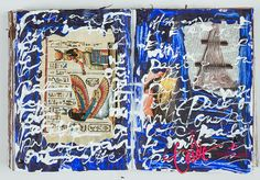 Art Journaling  Kirjantuunausta...