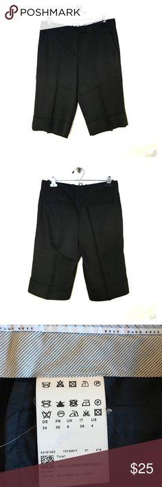 Hugo Boss NWOT Hugo Boss  Wool & Linen Blend Woman's Shorts Navy Blue Hugo Boss Shorts Bermudas
