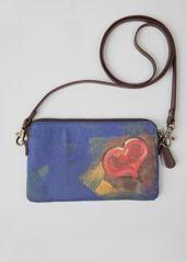 Leather Statement Clutch - Purple watercolor clutch by VIDA VIDA MzeIVbm